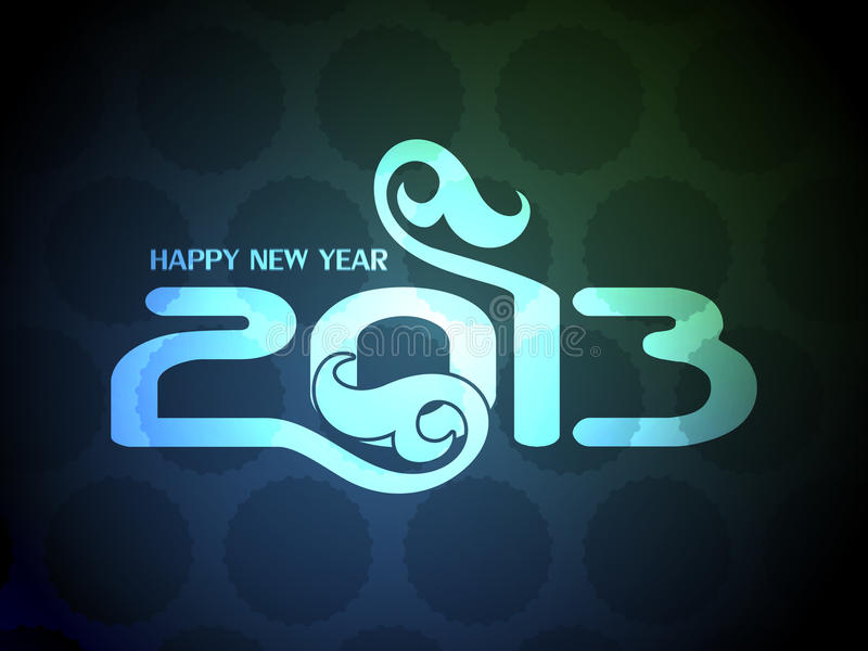 Download Colorful Happy New Year 2013 Design. Stock Vector - Image: 27878972