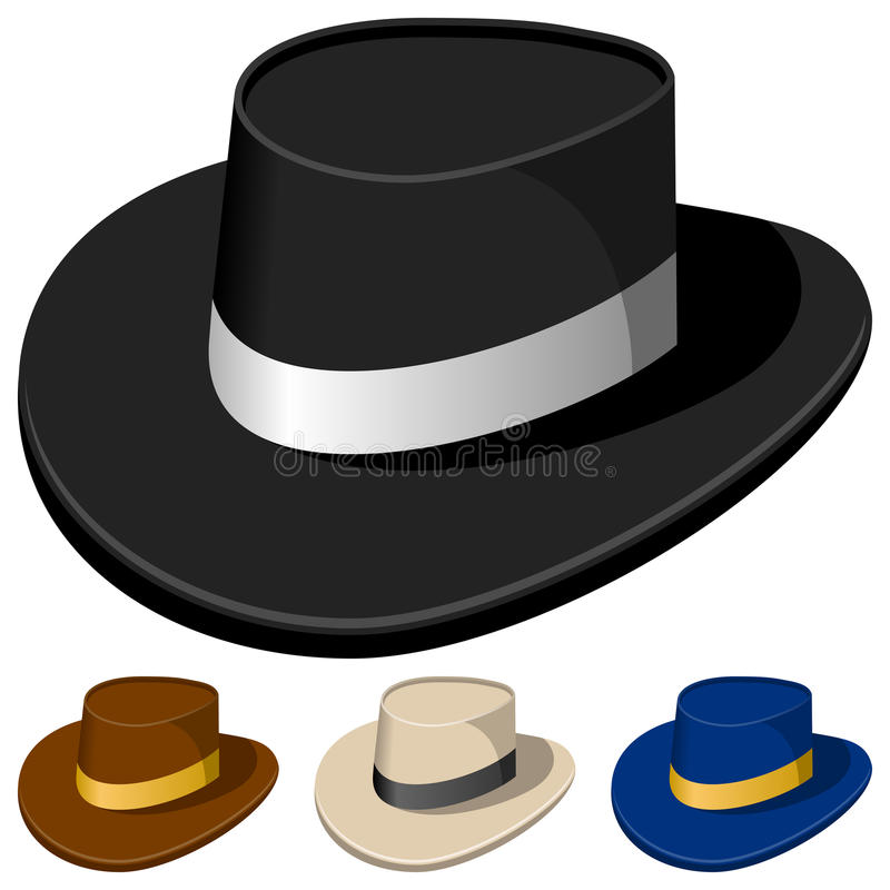 Colorful Hats for Men vector illustration
