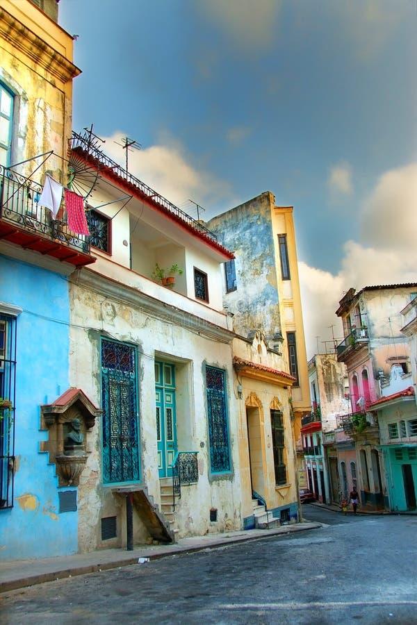 Colorful Havana buildings stock photography