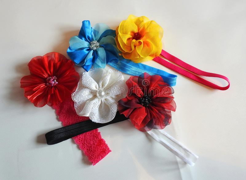 Colorful headband on white background, Lithuania stock photography