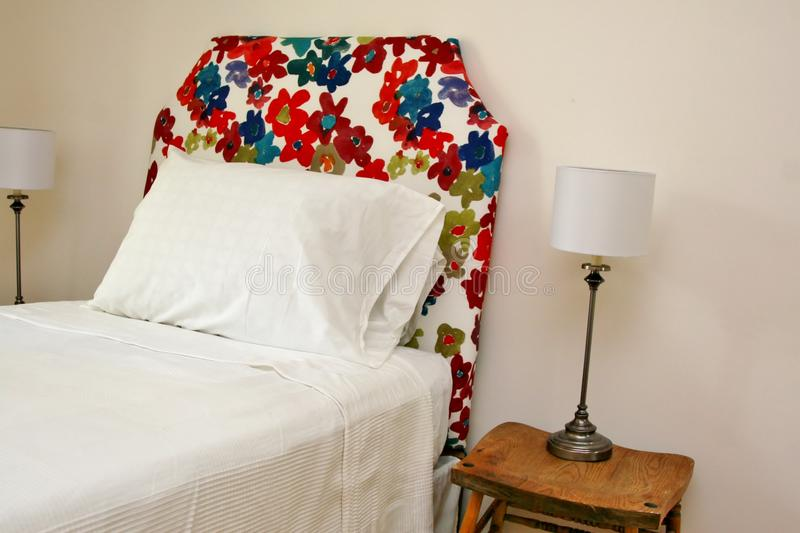 Download Colorful Headboard With Lamps Stock Image - Image: 32543889