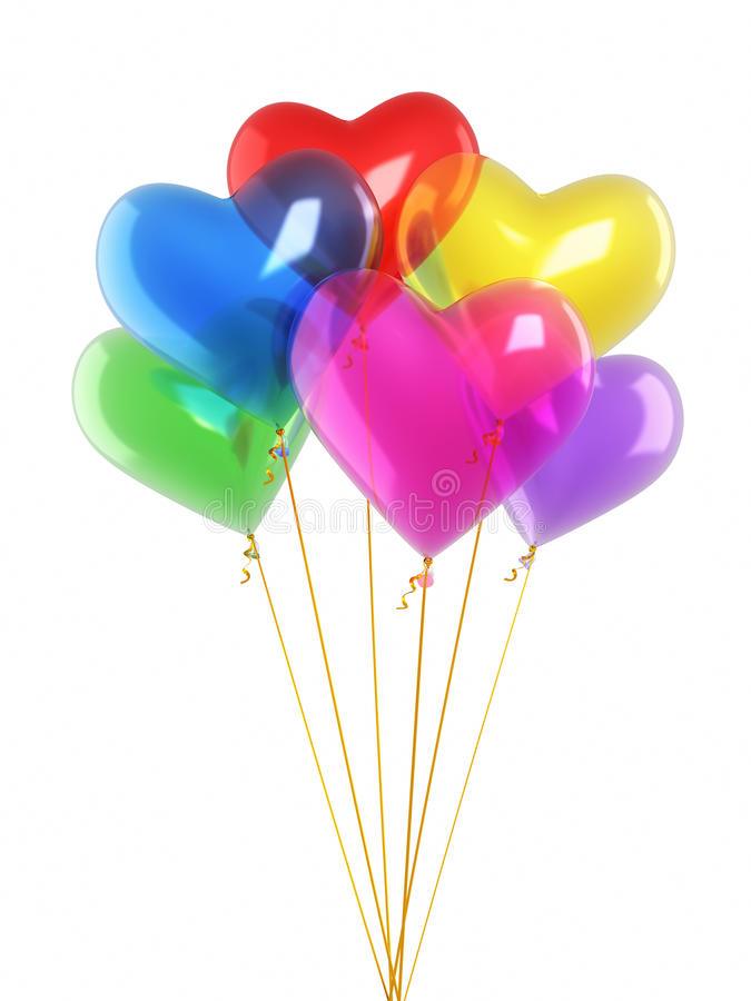 Download Colorful heart balloons stock illustration. Image of date - 34650745