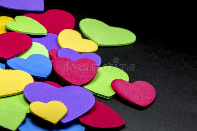 Colorful heart figure. Love symbol concept royalty free stock photography