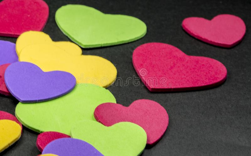 Colorful heart figure. Love symbol concept stock photo