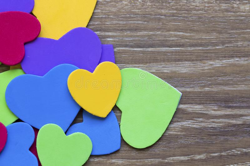 Colorful heart figure. Love symbol concept stock image