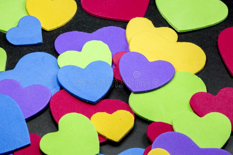 Colorful heart figure. Love symbol concept royalty free stock image