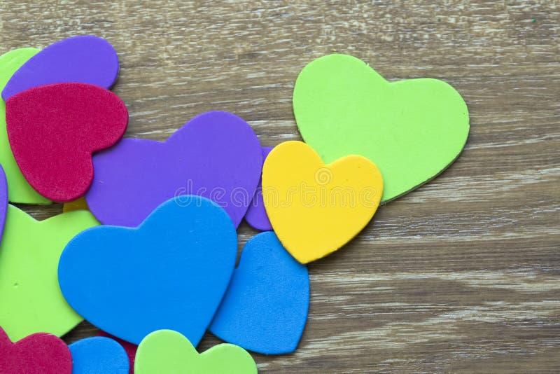 Colorful heart figure. Love symbol concept stock photos
