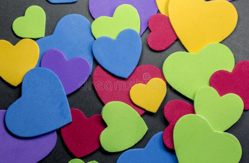 Colorful heart figure. Love symbol concept royalty free stock photo