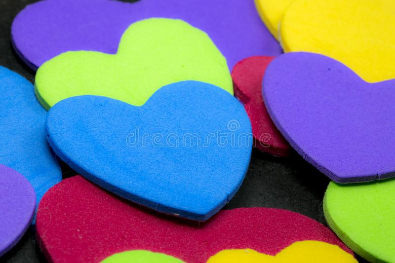 Colorful heart figure. Love symbol concept stock photography