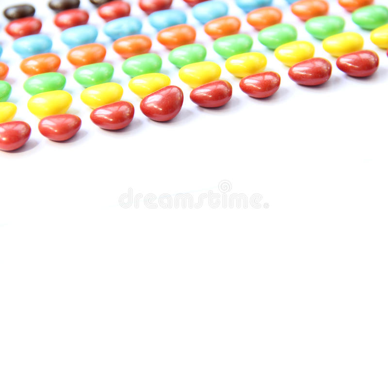 Colorful heart shape candy royalty free stock photography