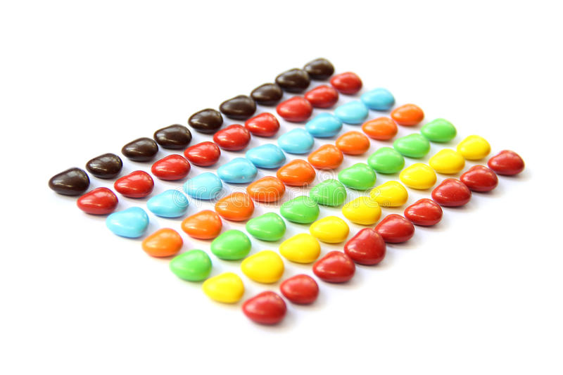Colorful heart shape candy royalty free stock photos
