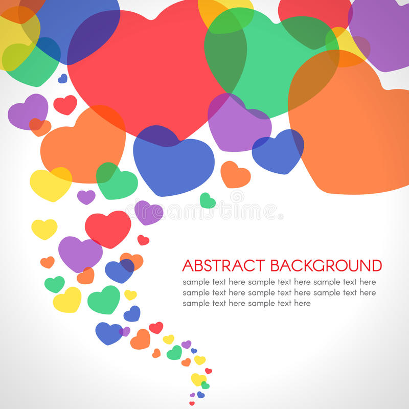 Colorful Heart spiral storm wave abstract background vector illustration