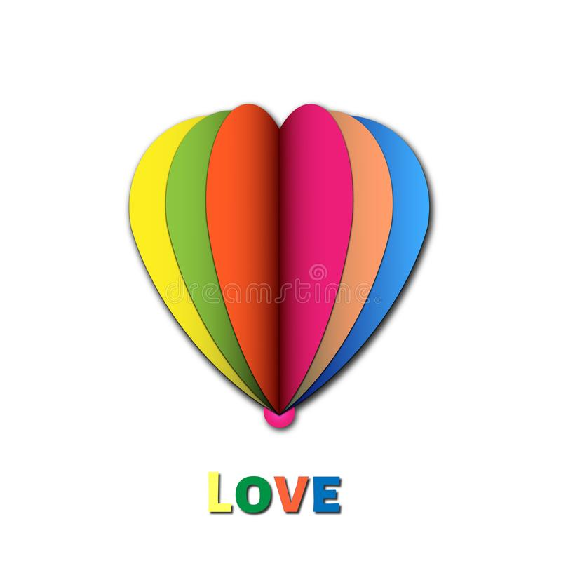 Colorful Hearth Love Ilustration book format royalty free stock image