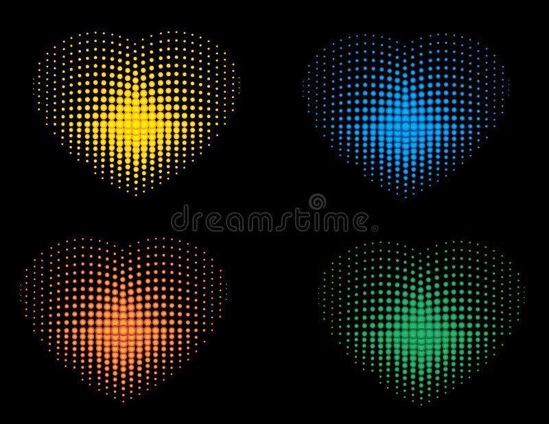 Colorful_Hearts stock de ilustración