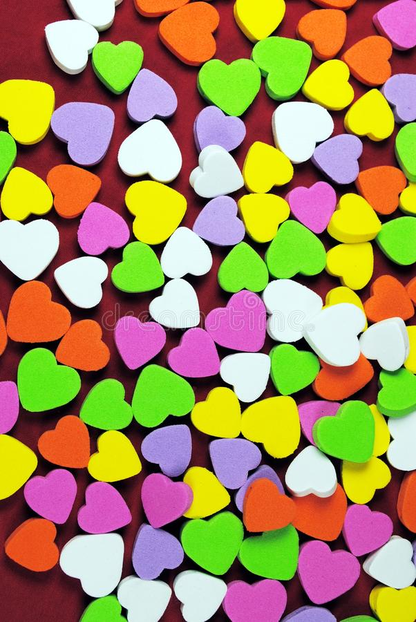 Download Colorful hearts stock image. Image of colorful, white - 22203895