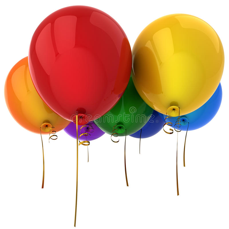 Colorful helium balloons (Hi-Res) vector illustration