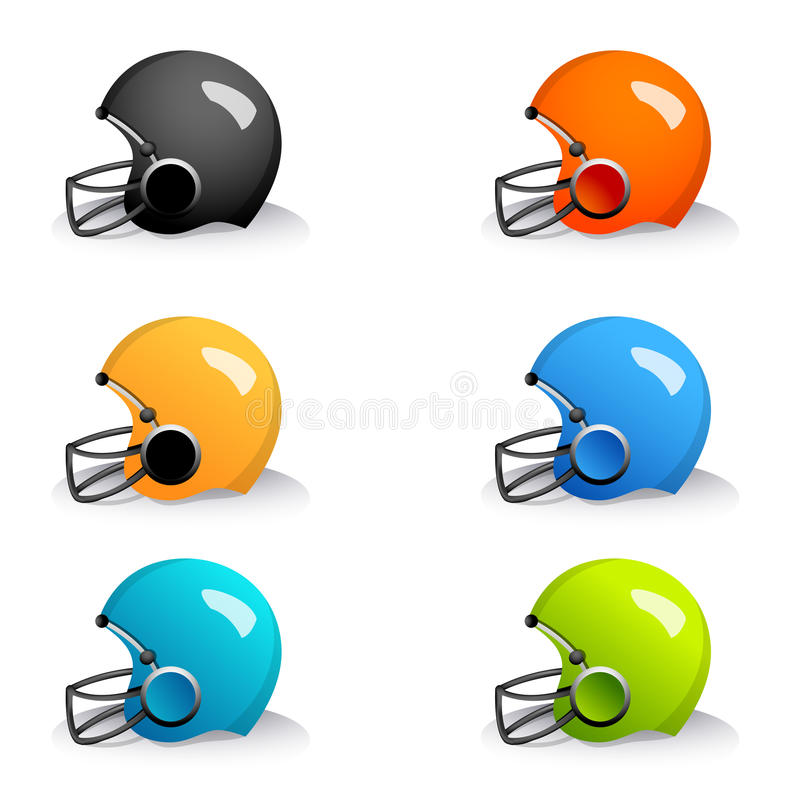 Download Colorful helmets stock vector. Image of motor, hard, accessory - 17558113