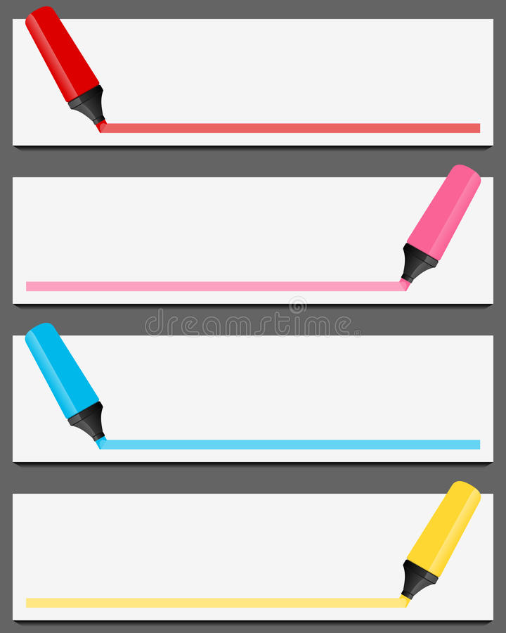 Download Colorful Highlighter Banners Set Stock Vector - Image: 32868049