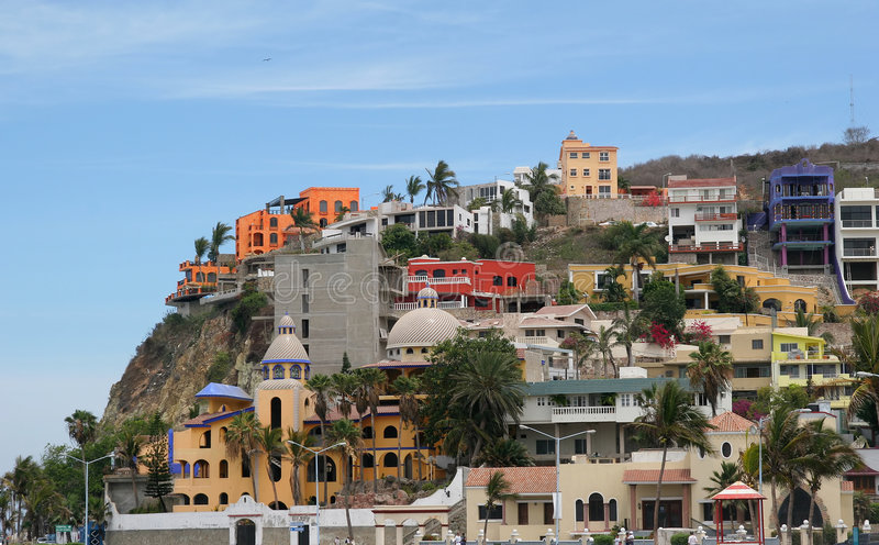 Download Colorful Hilltop Condos stock photo. Image of town, window - 2627182
