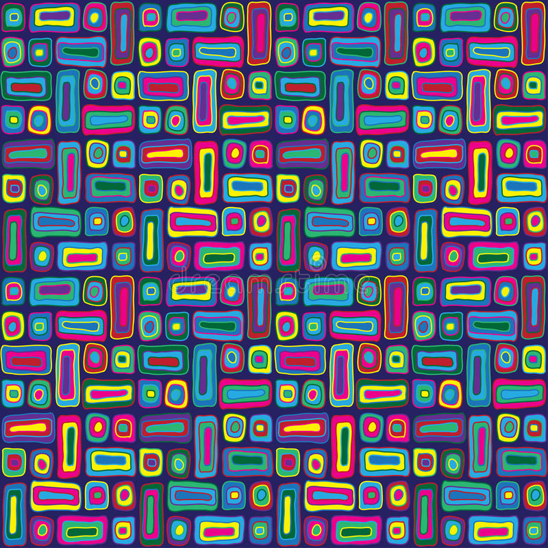 Download Colorful Hippie Pattern stock vector. Image of backdrop - 31603170