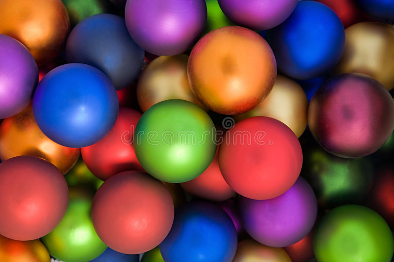 Colorful Holiday Balls stock images