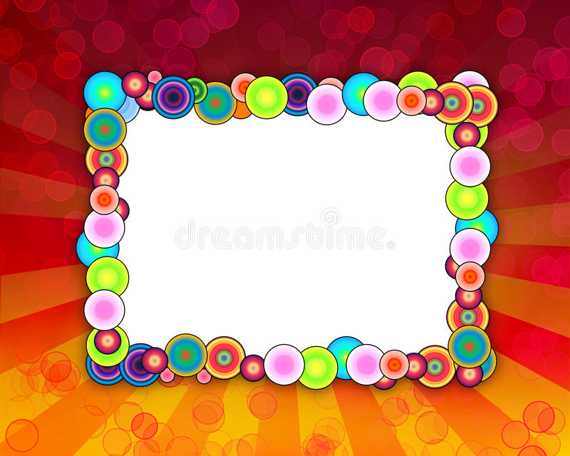Colorful Holiday Frame vector illustration