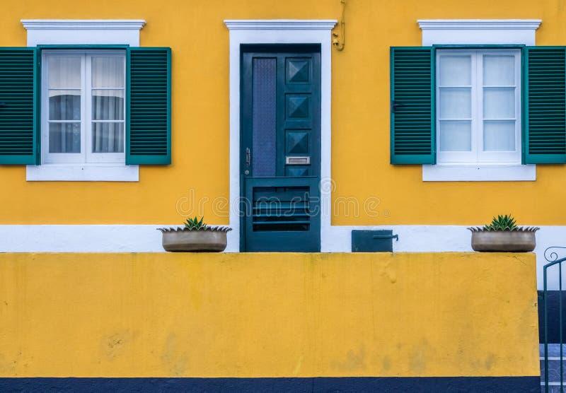Colorful home of Ponta Delgada royalty free stock image