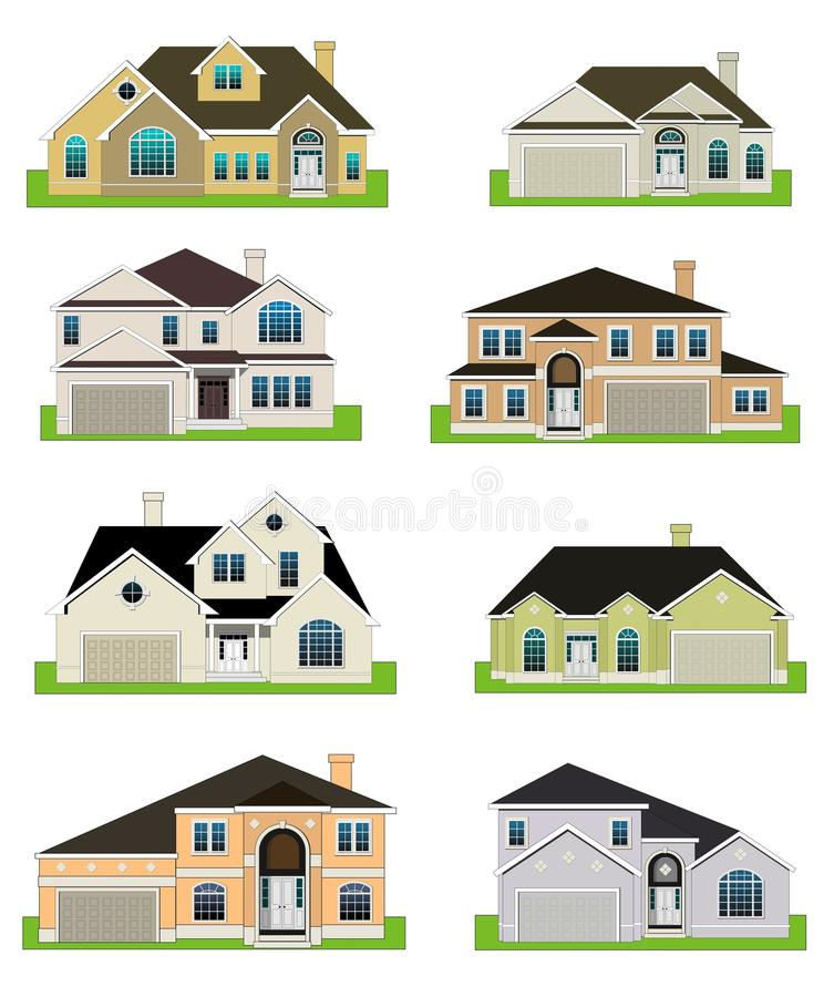 Colorful homes royalty free illustration