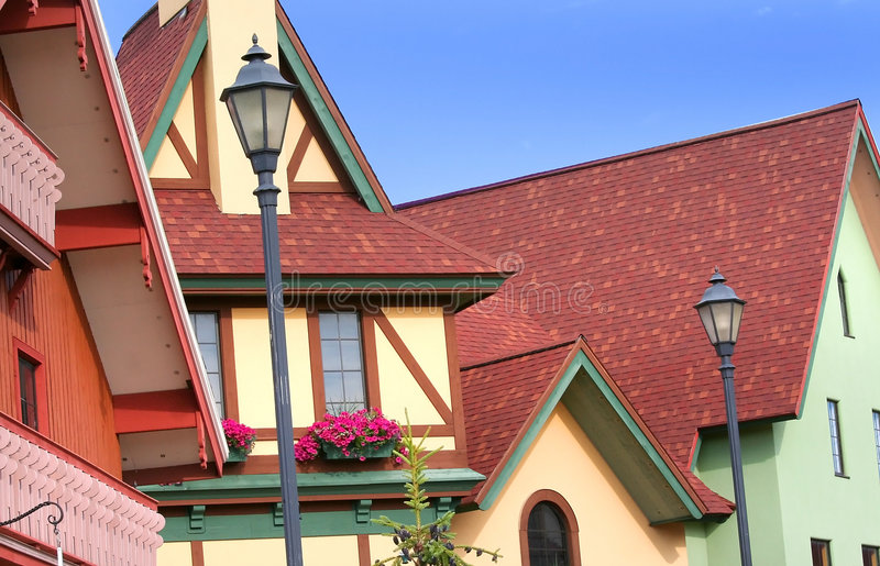 Colorful Homes stock photos
