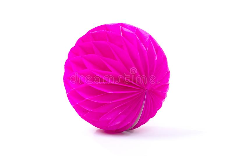 Colorful honeycomb round paper ball isolated. On white background royalty free stock photo