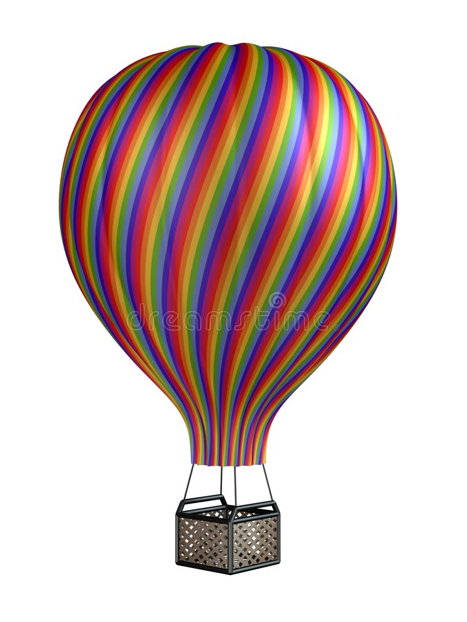 Colorful hot air balloon vector illustration