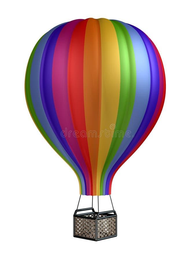 Colorful hot air balloon stock illustration