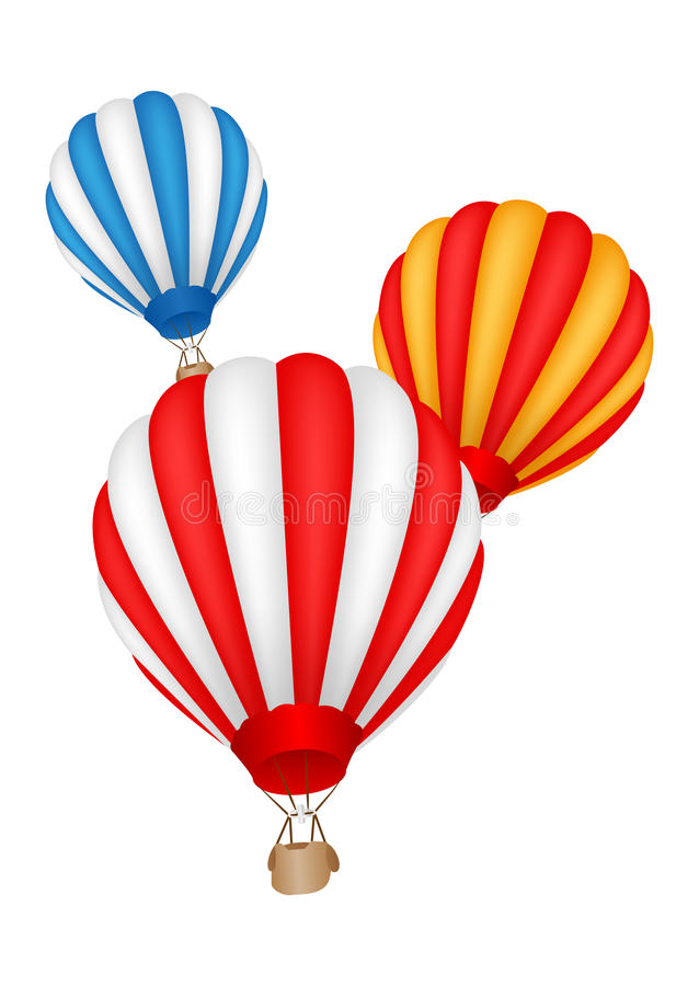 Colorful Hot air balloon. Illustration of Colorful Hot air balloon flying stock illustration