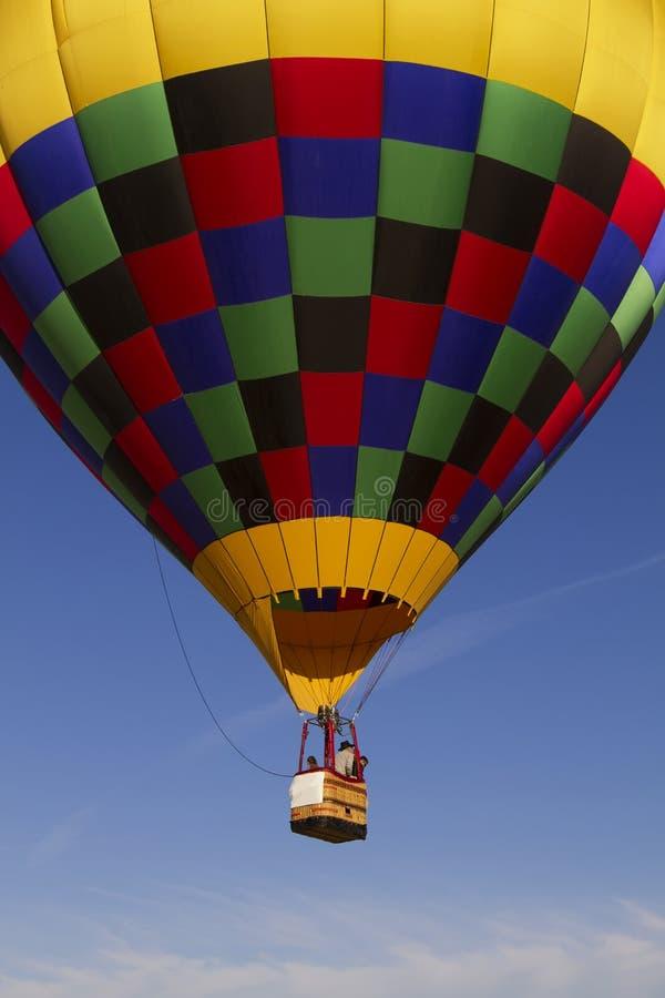 Colorful Hot Air Balloon Over Arizona Royalty Free Stock Photos