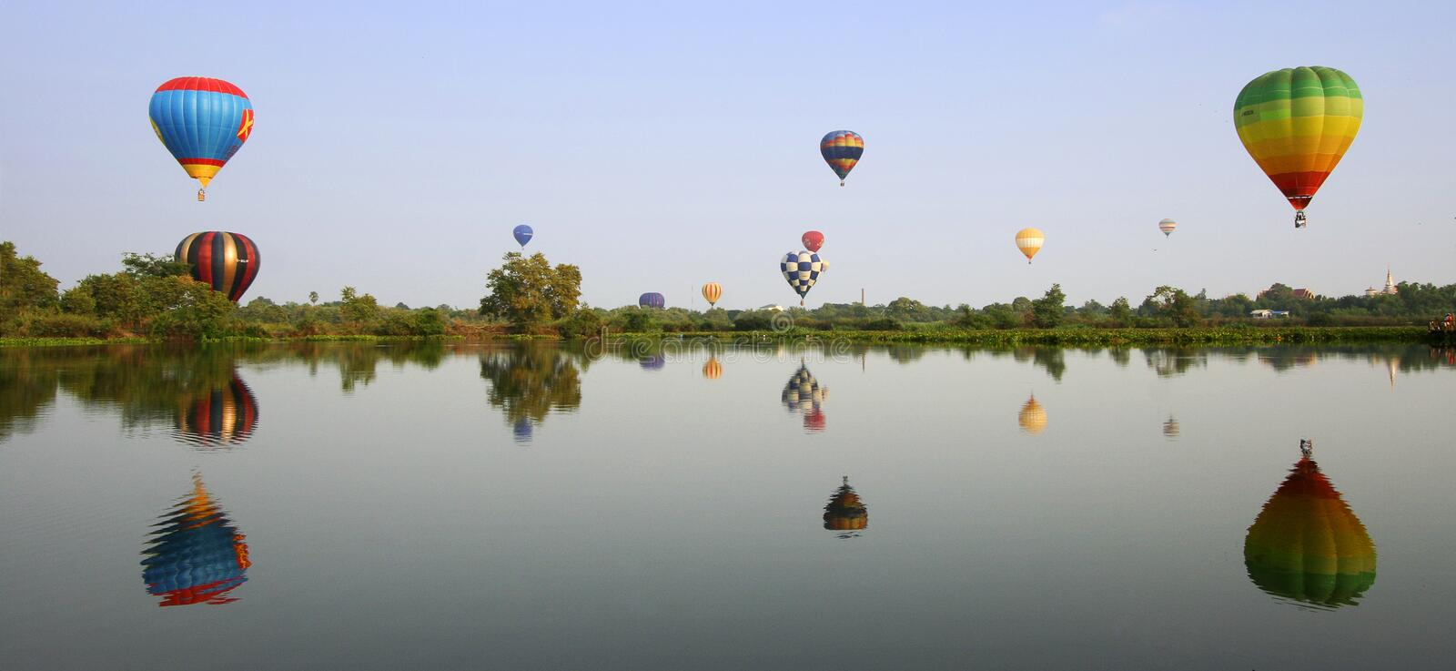 Download Colorful hot air balloons stock image. Image of beautiful - 13656373