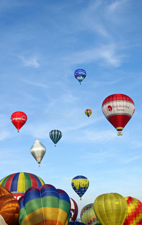 Download Colorful hot air balloons editorial stock image. Image of colour - 14862114