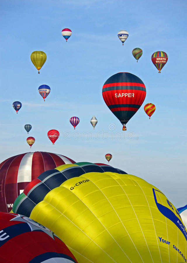 Download Colorful hot air balloons editorial image. Image of pretty - 14862160