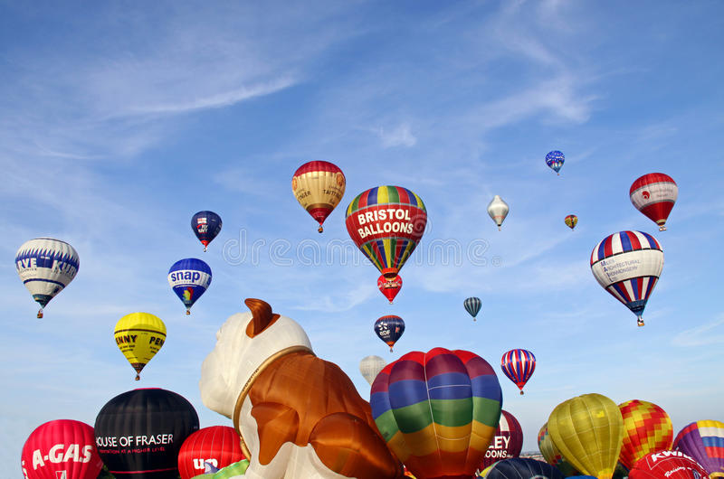Download Colorful hot air balloons editorial stock photo. Image of sport - 14862243