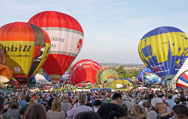 Download Colorful hot air balloons editorial stock photo. Image of transport - 14862753