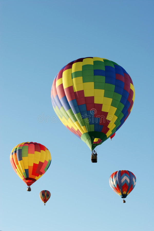 Colorful hot air balloons royalty free stock photos