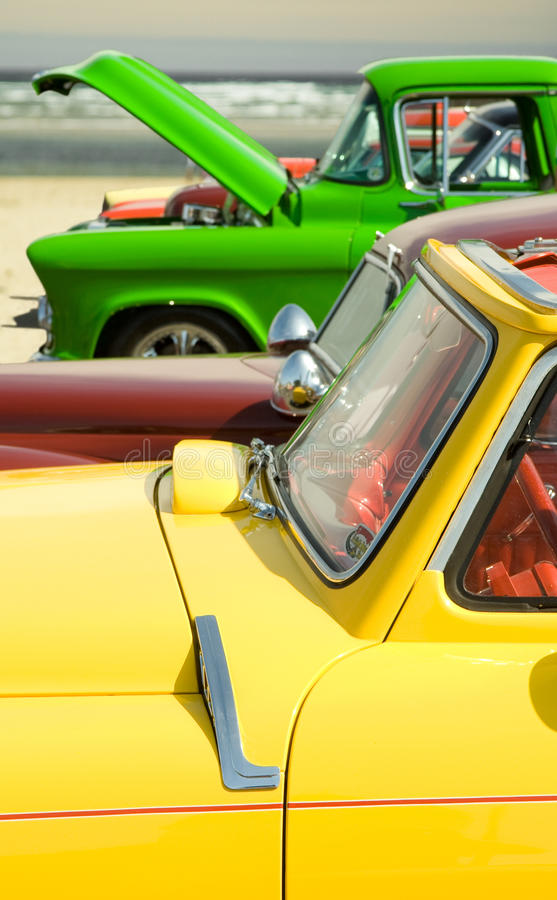 Colorful Hot Rod Cars royalty free stock photography