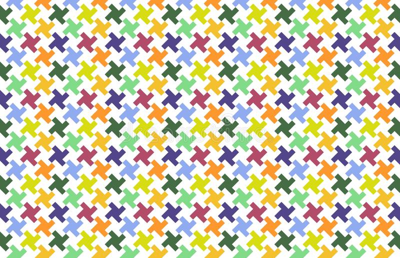 Colorful houndstooth pattern stock illustration