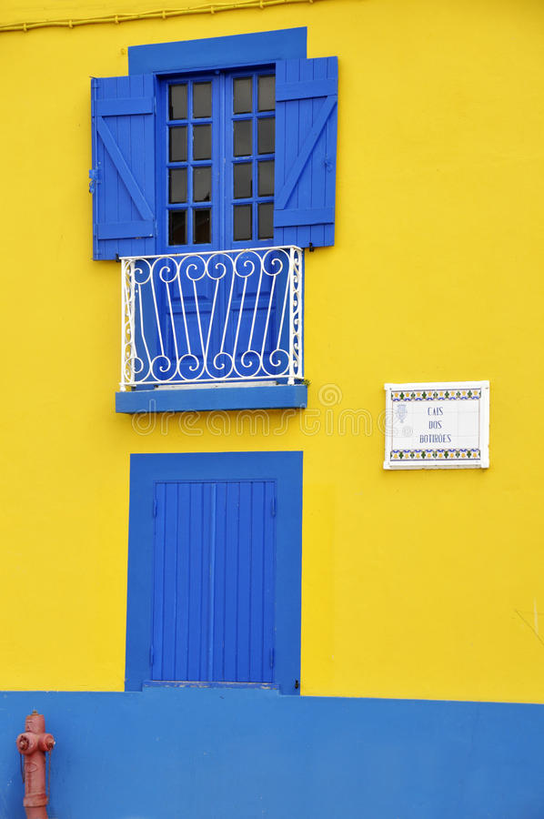 Colorful house in Aveiro royalty free stock images