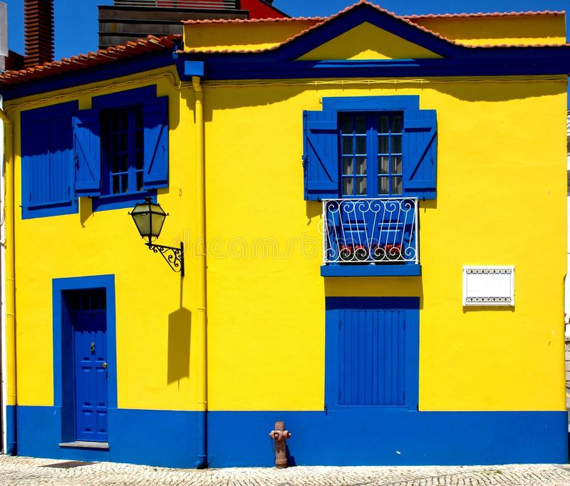 Colorful house in Aveiro. Portugal royalty free stock image