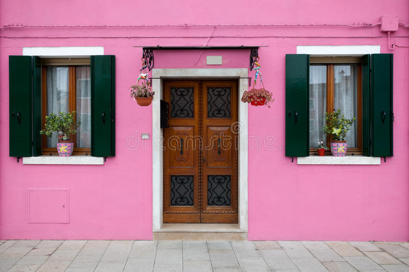 Colorful house in Burano island, Venice, Italy royalty free stock images