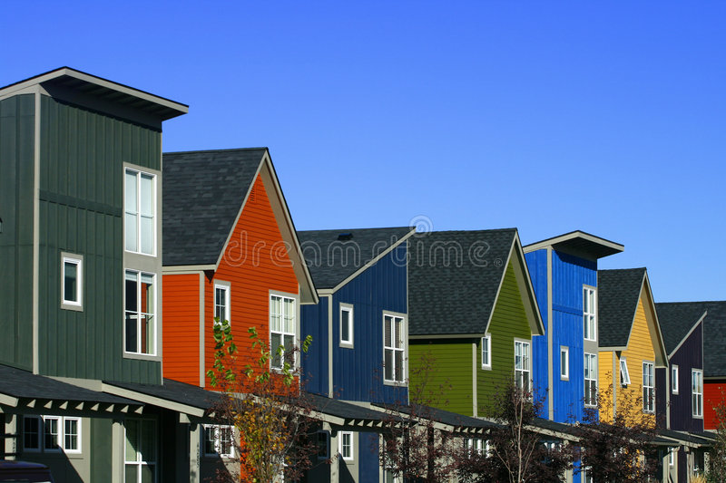 Download Colorful Houses Royalty Free Stock Images - Image: 7343259