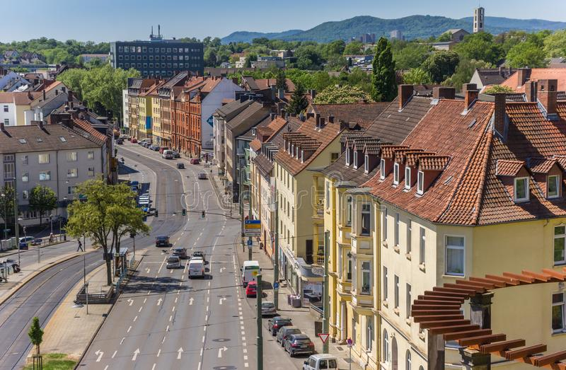Colorful houses in the center of Kassel. Germany royalty free stock photography