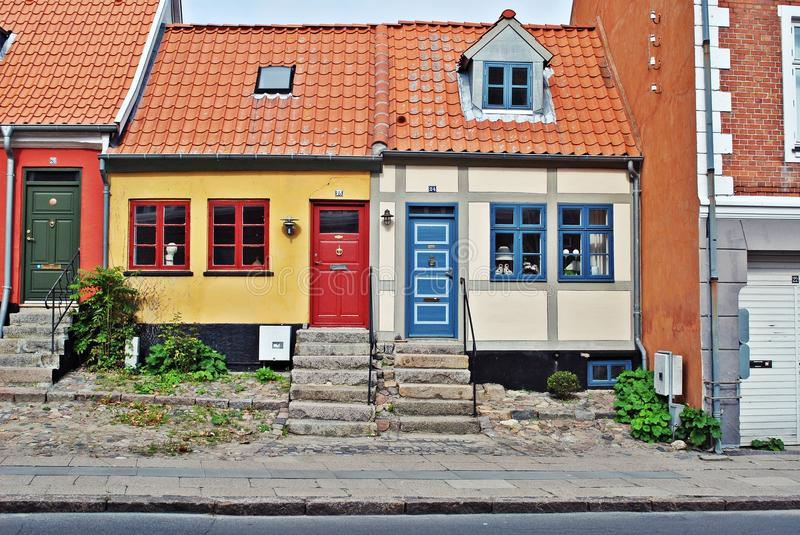 Download Colorful houses in Denmark stock image. Image of facade - 21291527