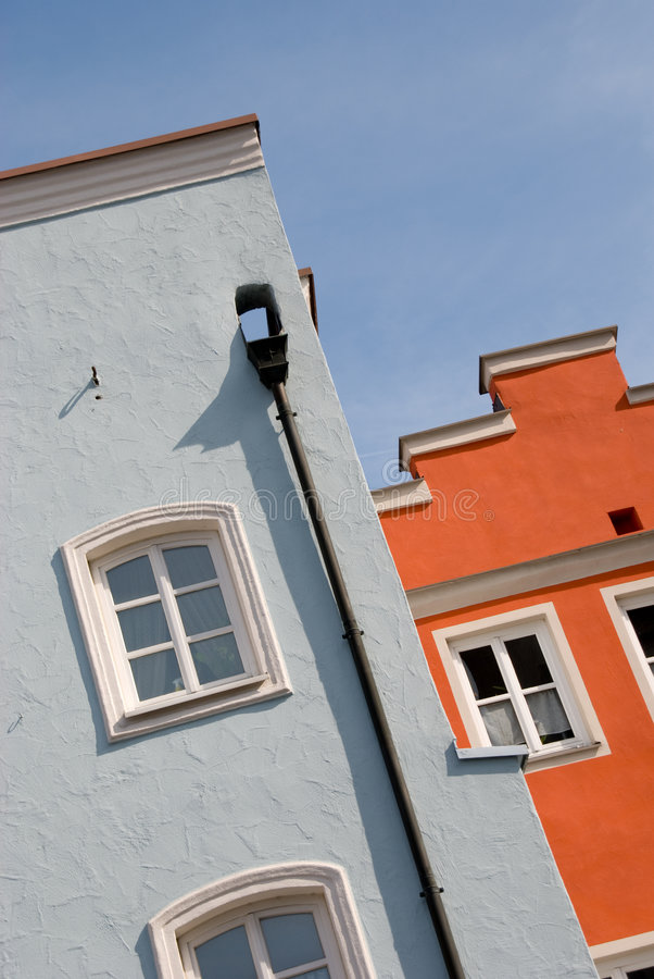 Colorful houses exterior royalty free stock images