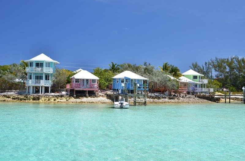 Colorful houses at Exuma, Bahamas. Colorful houses at Exuma Cays, Bahamas stock photography